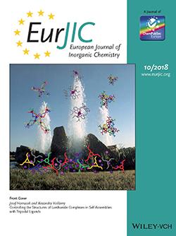 Les travaux de J. Hamacek et A. Vuillamy en couverture de la revue European Journal of Inorganic Chemistry.