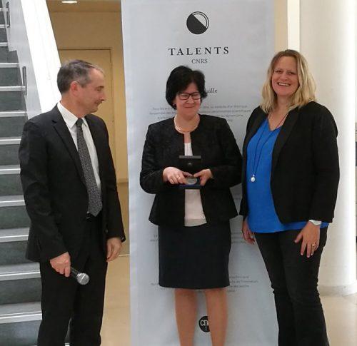 Eva Jakab Toth, directrice du CBM, a reçu la médaille d'argent du CNRS.