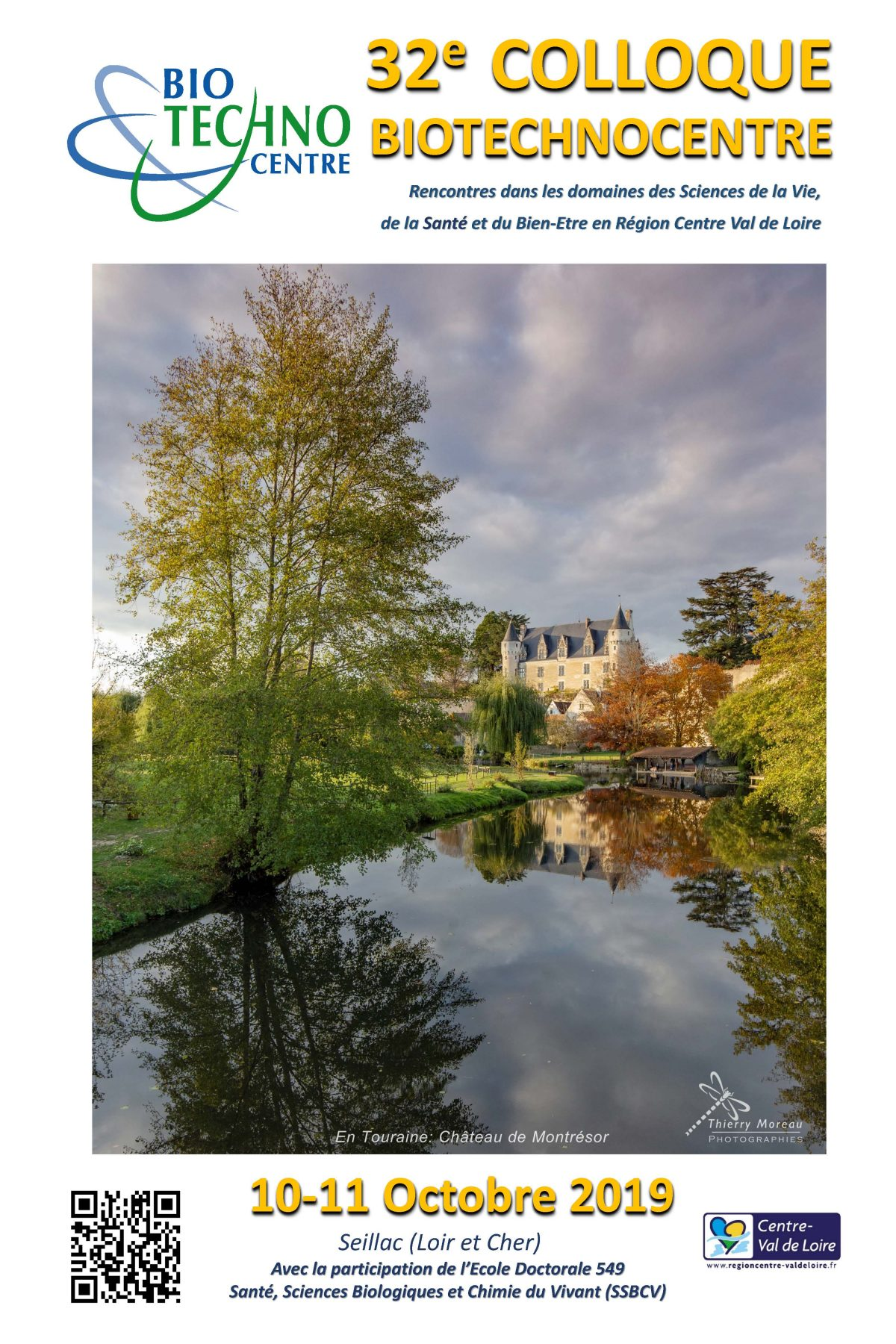 32e colloque Biotechnocentre – 10 et 11 octobre 2019 – Seillac