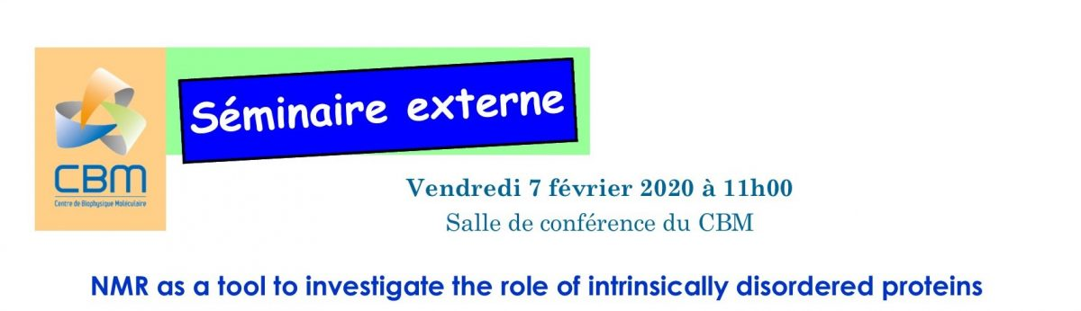 February 7th, 2020 – External seminar Dr Carine Van Heijenoort, Institut de Chimie des Substances Naturelles, Gif sur Yvette